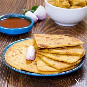 Besan Ki Roti & Chutney