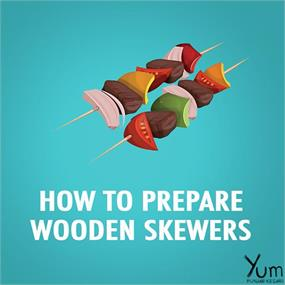 How to Prepare Wooden Skewers