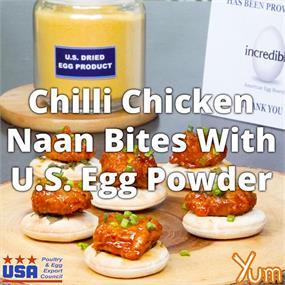 Chilli Chicken Naan Bites